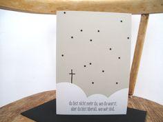 Trauer & Beileid - Trauerkarte - ein Designerstück von avaundyves bei DaWanda