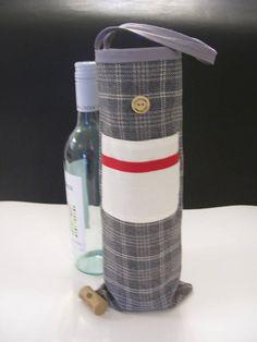 SACS-cadeaux vins  sac-cadeau vin gris  gris sac à vin Style, Wine Bags, Bottle, Goody Bags, Original Gifts, Stylus