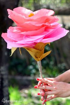 DIY Paper Flower XXL  2become1 - Design&Events Diy Paper, Paper Flowers, Bouquet, Rose, Floral, Plants, Orange, Design, Decor
