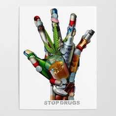 Stop Drugs Art Print by Light Stream - X-Small Drug Free Posters, Drugs Art, Drawing Competition, Technology Posters, Poster Drawing, Canvas Prints, Art Prints, Diy Frame, Poster On