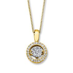 Diamonds in Rhythm 1/3 ct tw Necklace 10K Yellow Gold