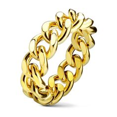Women's Spikes Stainless steel Womans Cocktail Rings ($9.99) ❤ liked on Polyvore featuring jewelry, rings, jewelry & watches, stainless steel rings, yellow cocktail ring, yellow ring, spikes jewelry and grey jewelry