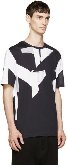 Helmut Lang Black & White Construct T-Shirt