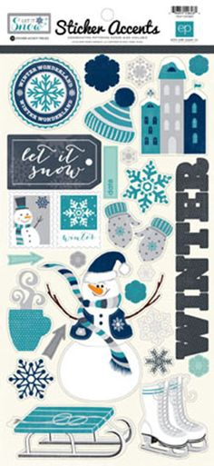 Echo Park - Let It Snow Collection - Cardstock Stickers at Scrapbook.com