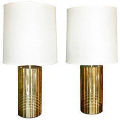 Italian Reggiani Brass Cylinder Light 1
