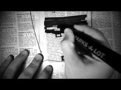 How To Make A Newspaper Blackout Poem - YouTube