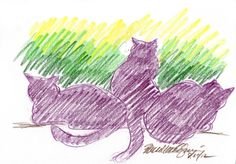 The Creative Cat - Daily Sketch Reprise: Morning Shift