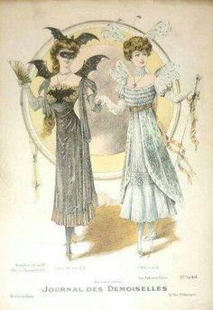 Arcane Cowboy — A Victorian Fancy Dress Ball: Popular Costumes of. Edwardian Era, Edwardian Fashion, Vintage Fashion, Gothic Fashion, Victorian Fancy Dress, Victorian Costume, Historical Costume, Historical Clothing, Fashion Painting