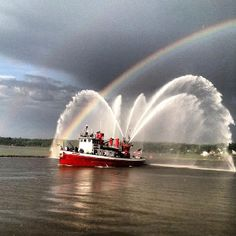 This is the John Harvey fireboat at Kingston NY on June 7, 2012.  This is the boat that came to the aid of NYC on 9/11.  Picture taken with an iPhone.