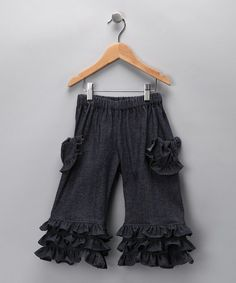 Missie Moosie - Denim Ruffle Pants - Infant, Toddler & Girls (zulily.com)