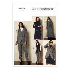 Vogue Patterns V8939 Misses' Vest, Jacket, Top, Dress, Sk...