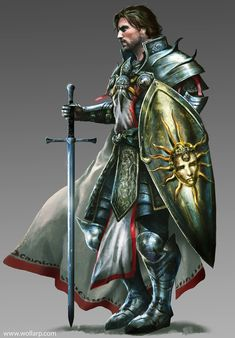 m Paladin Plate Armor Shield Cloak Longsword undercity Urban City Temple Sir Roland by mlappas lg & xlg (saved) Dungeons And Dragons Characters, D&d Dungeons And Dragons, Dnd Characters, Fantasy Characters, Fantasy Male, Fantasy Armor, High Fantasy, Medieval Fantasy, Fantasy Inspiration