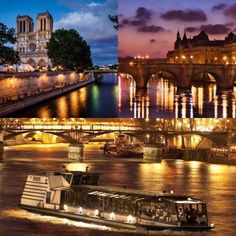 Let's discover Paris by night on a boat and enjoy a gastronomic French dinner. During 2 hours you will travel across the Seine and admire the wonderful monuments of the city with all the night lights.