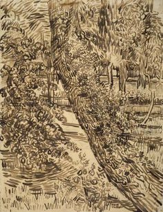 Vincent van Gogh (1853 - 1890), Tree with ivy in the garden of the asylum, 1889. Van Gogh Museum, Amsterdam (Vincent van Gogh Foundation).