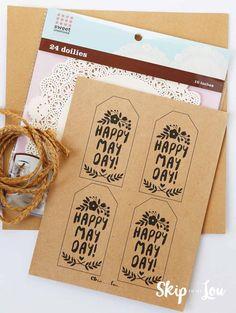 printable may day basket gift tags