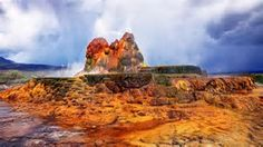 Never heard of this but the picture makes it look interesting.  Fly Geyser, Gerlach Nevada.