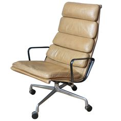 Vintage Softpad Lounge Chair by Eames for Herman Miller | 1stdibs.com