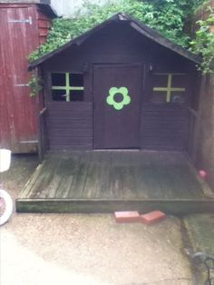 Wooden play house Toy Playhouse, Wooden Playhouse, Outdoor Toys, Play Houses, Shed, Outdoor Structures, Ebay, Dollhouses, Barns