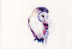 small watercolour owl tattoo - Google Search