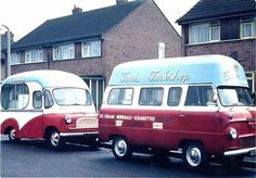 Bedford CA Ice Cream Van & Ford Thames Tuck Shop & Ice Cream Van.