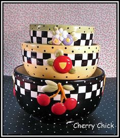 "I love these Mary Engelbreit bowls.  Aw heck, I just love anything ""Mary Engelbreit""!!!  She is one awesome artist!!"