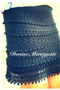 Saia modelo pipocas Crochet Short Dresses, Crochet Skirts, Knit Skirt, Crochet Yarn, Crochet Clothes, Crochet Stitches, Free Crochet, Knit Crochet, Crochet Patterns
