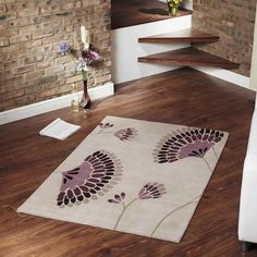 Ixia rugs in beige and plum buy online from the rug seller uk
