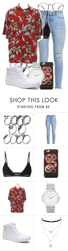 """""""74.4"""" by mallorimae ❤ liked on Polyvore featuring Calvin Klein, Gucci, Larsson & Jennings, Vans and Jessica Simpson"""