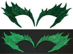 Green GLITTER Uma Thurman POISON IVY Costume Mask. $28.99, via Etsy.
