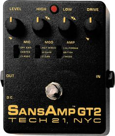 tech 21sansamp gt2 tube amp emulator; my all-time favorite pedal & the core of my sound , 'love it ~