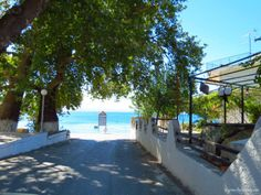 Ilia - small fishing village with mineral springs; village in Evia, Central Greece Fishing Villages, Big Island, Mineral, Seaside, Greece, Vacation, Landscape, Beach, Outdoor Decor