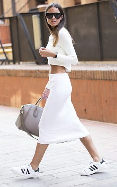 The best ways to rock the white sneaker trend