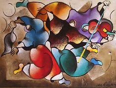 "Original Painting ""Singing Violins"" by David Schluss"