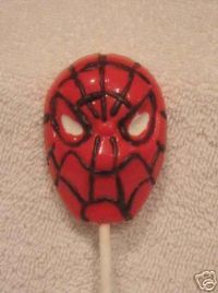 spider-man lollipop mold