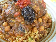 Here is a picture of L'ham Lahlou, an Algerian Sweet Lamb Dish. Usually cooked on Ramadan and on other special occasions.