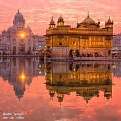 """Photo: Destination: Amritsar, India India is home to a number of architectural beauties. Meet Harmandir Sahib, or the """"Golden Temple"""". Built in the 16th century, the upper floors were covered with gold in the early 19th century, which is where the name Golden Temple comes from."""