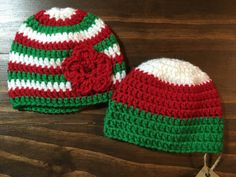 Crocheted Christmas Hat by MrsMatherMade on Etsy