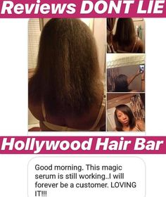 Hollywood Hair Bar's - Hair Regrowth Serum was created for people with catastrophic hair loss who were told their hair would never grow back and to give up trying. After much research and multiple formulations with our manufacturer we bring to you Hollywood Hair Growth Serum. Pack of 2. Grow Hair Overnight, Natural Beauty Remedies, Hollywood Hair, Hair Products, Beauty Products, Hair Serum, Hair Regrowth, Hair Repair, Organic Makeup