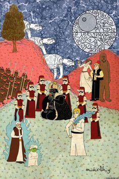 Classic Movie Posters in Miniature Oriental Style | Murat Palta
