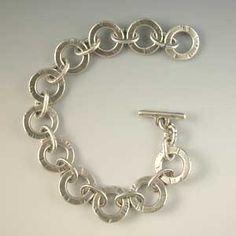Sterling silver, handmade, bracelet!