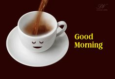 Good Morning With A Hot Cup Of Tea | Simply Good Morning | Premium Wishes #greetingcards #ecards #goodmorning