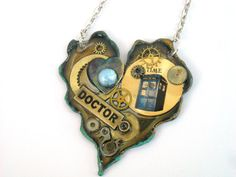 "Doctor Who Necklace The Hearts of  a Time ~ via this Etsy store, ""Time Machine Jewelry""."