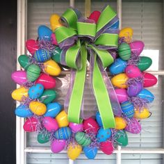 my easter egg wreath