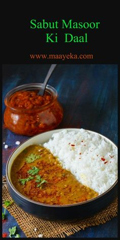 Sabut Masoor daal- whole red lentil cooked in a simple rustic way.Masoor ki daal is a very light and easy to digest lentil. Best Lentil Recipes, Veggie Recipes, Indian Food Recipes, Asian Recipes, Appetizer Recipes, Vegetarian Recipes, Cooking Recipes, Korma, Rajasthani Food