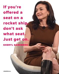 A bit of Monday Motivation from the birthday queen Sheryl Sandberg, COO of Facebook and founder of Lean In, a nonprofit organization with a mission to empower all women to achieve their ambitions.