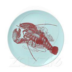 Vintage Lobster Dinner Plate