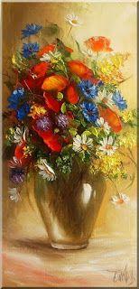 Malarstwo i Fotografia - Ewa Bartosik: Kwiaty Polne Paintings, Flowers, Jewels, Fotografia, Art, Paint, Painting Art, Painting, Painted Canvas
