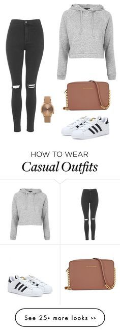 "d611 ""Casual outting"" by nelly-niblett on Polyvore featuring Topshop, adidas and…"