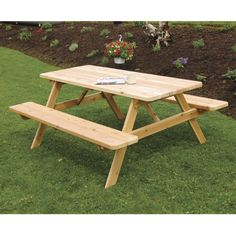 A & L Furniture Western Red Cedar Picnic Table with Attached Benches - This A & L Furniture Western Red Cedar Picnic Table with Attached Benches is your ideal backyard gathering spot. Whether for a small get-together ...