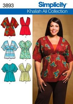 Misses or Plus Size Shirt sewing pattern 3893 Simplicity